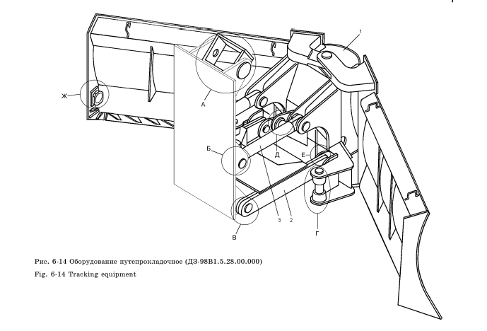 Оборудование путипрокладочное ДЗ-98В1.5.28.00.000