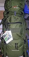 Рюкзак туристический 85 L на раме зеленый