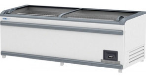 Ларь-витрина морозильная Italfrost ЛВН 1850 (ЛБТ М 1850) СП ЛТ серый верх. бампер