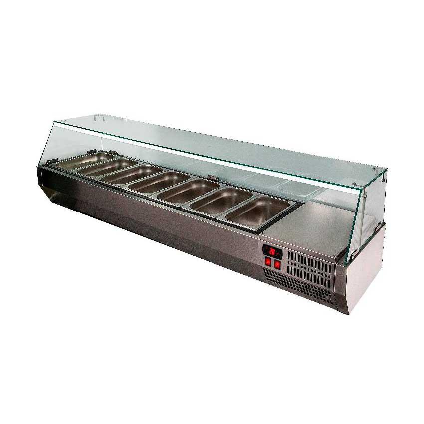 Витрина холодильная POLAIR VT3-G с крышкой