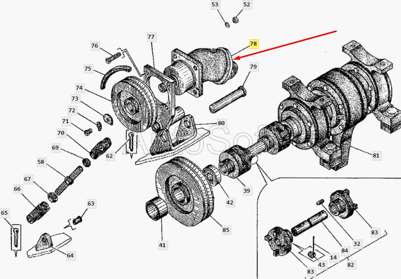 Гидромотор 210.16.11.00