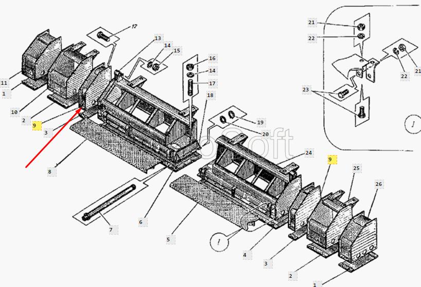 Каркас уширителя ДС-126А.34.01.400