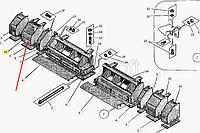 Каркас уширителя левый ДС-143.02.01.100