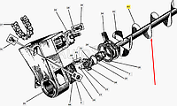 Средняя секция правого шнека Д150А-А09-99