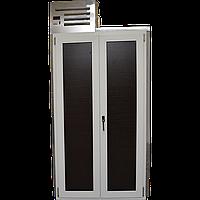 Кегератор Berk 8 Эконом складской вариант с двустворчатым дверным проемом с белой рамой
