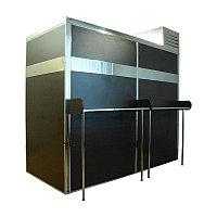 Кегератор Berk 20 Бизнес с 2 двустворчатыми дверными проемами с ламинированными рамами цвета венге