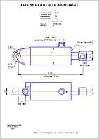 Гидроцилиндр зажима контейнера ЦГ 60.30х145.22, фото 1
