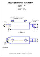 Гидроцилиндр зажима контейнера ЦГ60.30х85.22-03