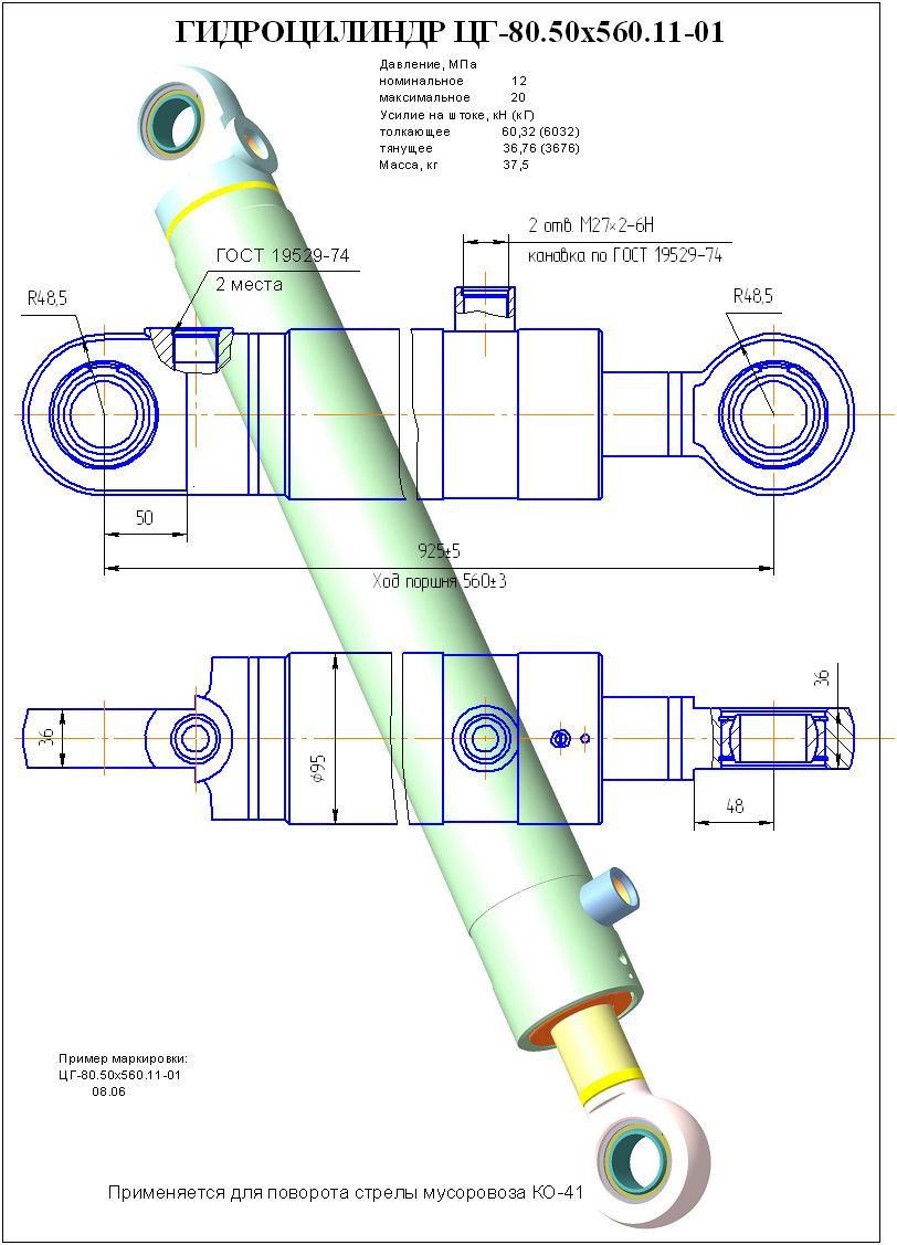 ГЦ стрелы ЦГ80.50x560.11-01