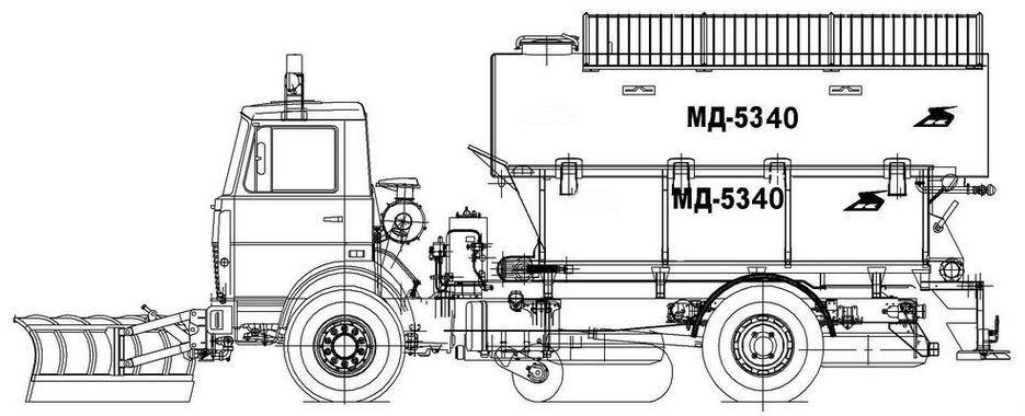 Машина дорожная комбинированная МД-5340