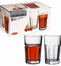 Высокие граненые стаканы Pasabahce Casablanca 280мл 6пр 52713