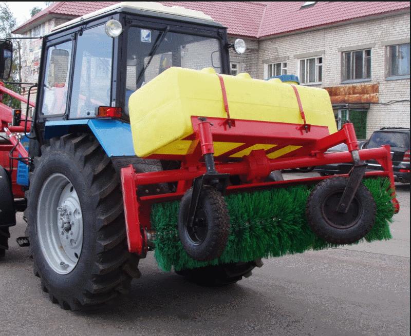 Щёточное оборудование с бачком  МТЗ-80/82