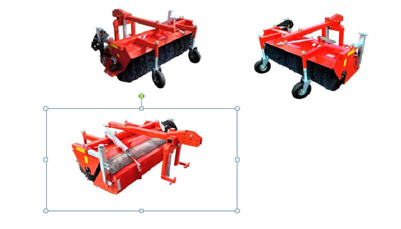 Щеточное оборудование с гидроприводом и бункером для сбора мусора на Трактор МТЗ 80/82