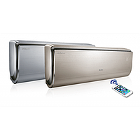 Кондиционер на 20-25 м2 серебристого или золотого цвета-Gree 09- U-Crown ( от 30°С до +54°С) ( wi-fi)
