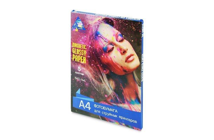 Магнитная глянцевая фотобумага INKSYSTEM Magnetic Glossy Photo Paper 640g, A4, 5 листов