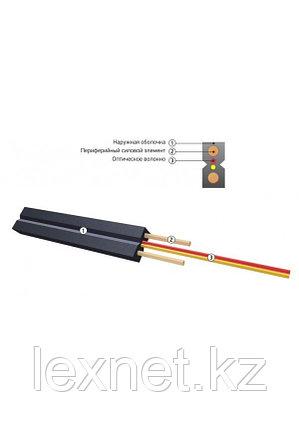 Кабель волоконно-оптический ОКНГ-Т-С1-0.4 (В/Т2) дроп кабель с двумя проволоками металлическими, фото 2