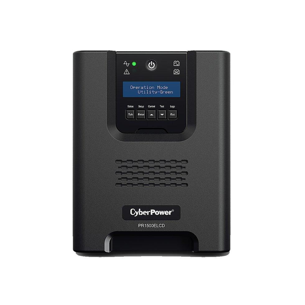 ИБП (UPS) CyberPower PR1500ELCD выходная мощность 1500VA/1350W