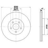 Тормозные диски Ford  Mondeo (00-07, передние, Meyle)