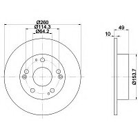 Тормозные диски  Honda Accord (03-..,задние, Optimal), фото 1