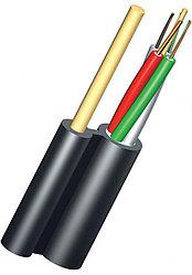 Кабель волоконно-оптический ОКНГ-Т4-С16-1.0 (ВП) 4 модуля по 4 волокна с двумя прутками в оболочке распределит