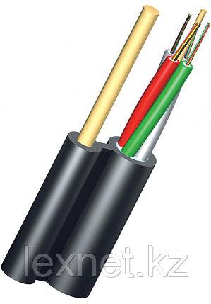 Кабель волоконно-оптический ОКНГ-Т6-С48-1.0 (ВП)  6 модулей по 8 волокон с двумя прутками в оболочке распредел, фото 2
