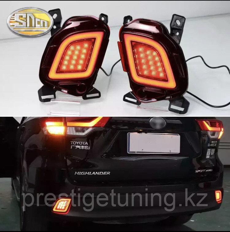 Задние LED вставки в бампер на Highlander 2014-20