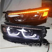 Передняя альтернативная оптика на Highlander 2018-20  дизайн BMW, фото 1
