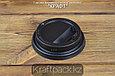 Крышка пластиковая с клапаном, черная D80 DoEco (100/1000), фото 2