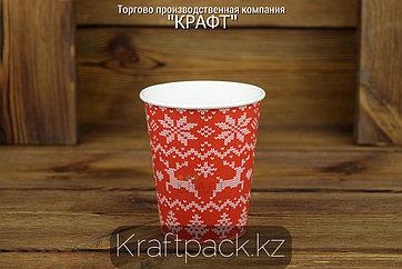Стакан бумажный Enjoy winter для горячих холодных напитков 250мл (8OZ) (50/1000)