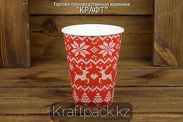 Стакан бумажный Enjoy winter для горячих холодных напитков 350мл (12 OZ) (50/1000)