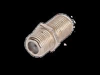 Кабельный соединитель , F-F типа, металлик, уп-ка 100 шт.