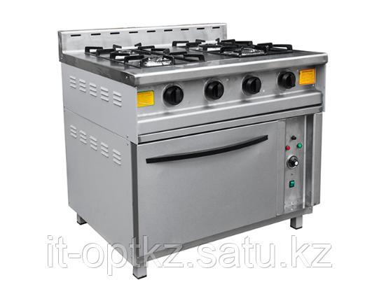 Плита газовая с духовкой ПГ-4Д (950х862х930 (950) мм, 20кВт, 220В)