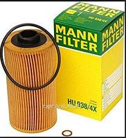 Масленый фильтр  mann  938/4 x (Элемент)