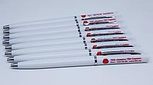 Пластиковые ручки с нанесением логотипа по индивидуальному заказу