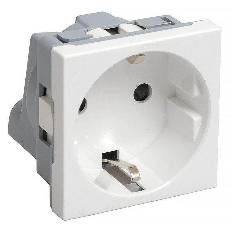 Розетка с заземлением в кабель канал лючки IEK РКС-20-30-П-К белая