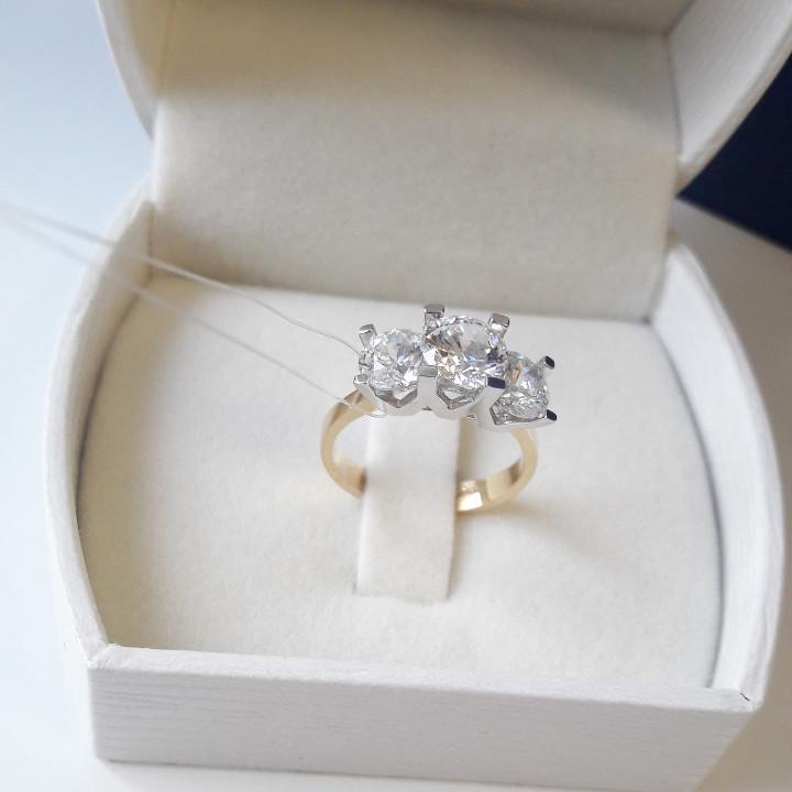 Золотое кольцо «LORENZO»