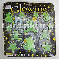 Фосфорные наклейки мишки и звезды на стену