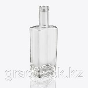 """Бутылка стеклянная """"Гранит"""" 0,5 литра, с корковой пробкой"""