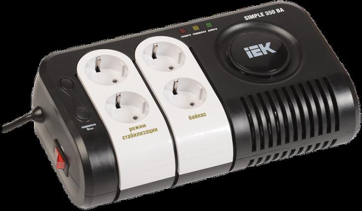 Стабилизатор напряжения серии  Simple 0,35 кВА IEK, фото 2