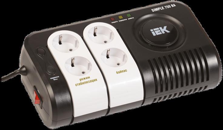 Стабилизатор напряжения серии  Simple 0,75 кВА IEK, фото 2