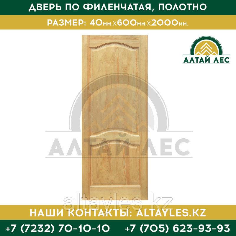 Дверь ПО филенчатая, полотно | 40*600*2000