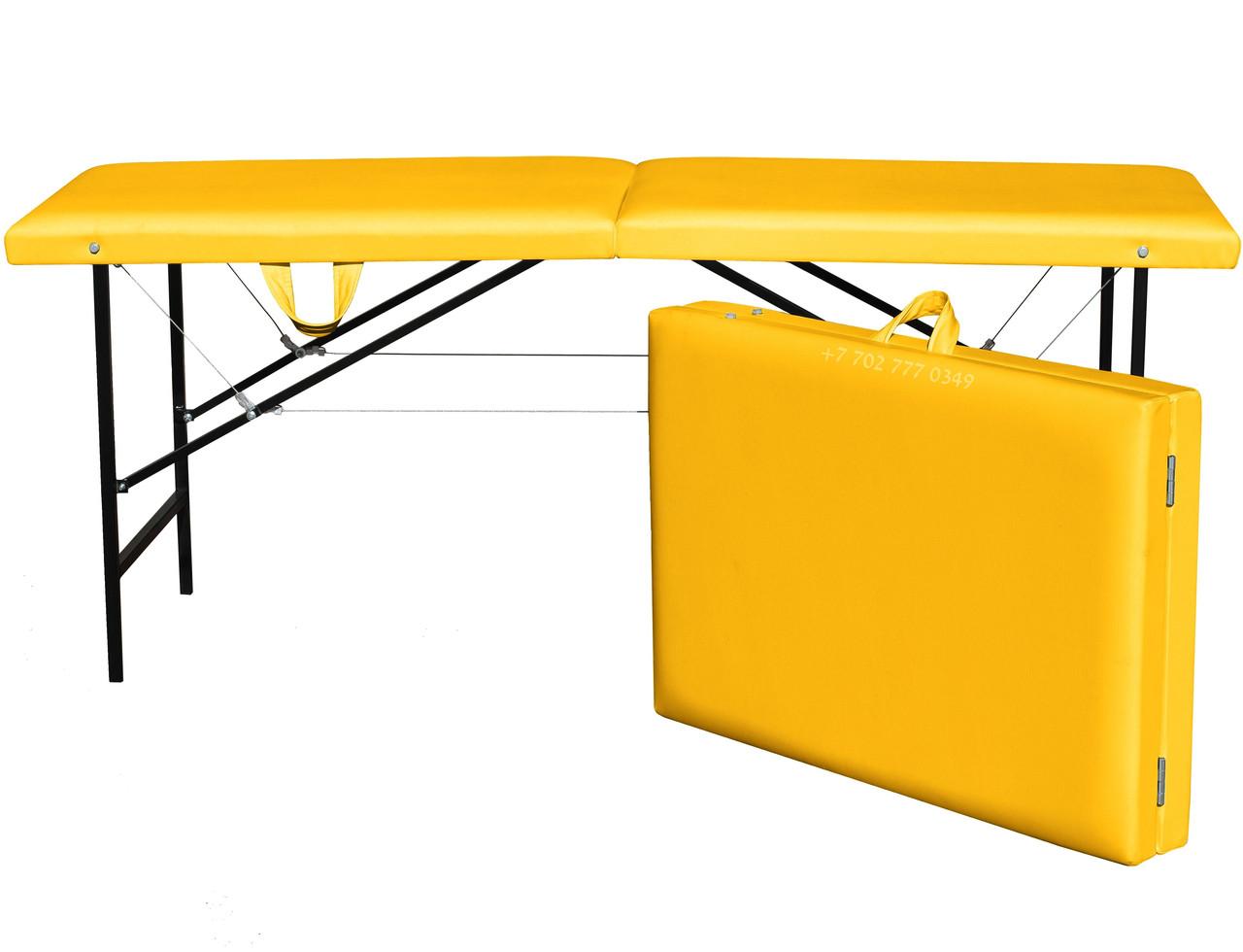 КУШЕТКА складная косметологическая. 180/60 жёлтый