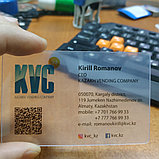 Визитки на пластике, прозрачные,визитки Алматы, фото 3