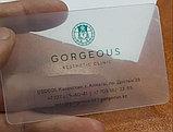 Визитки на пластике матовые визитки Алматы, фото 2