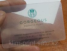 Изготовление визиток из пластика