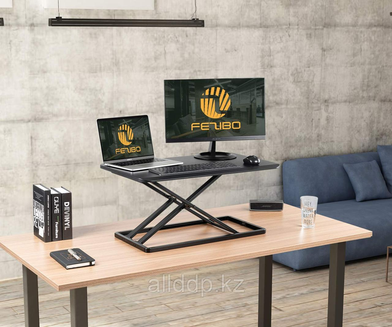 """FEZIBO с подставкой для стола 29 """"Черный, легкий эргономичный рабочий стол для ПК и ноутбука"""""""