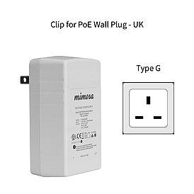 Переходник Mimosa PoE Wall Plug Clip, UK