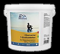 Кемохлор Т - таблетки (200г) длительный хлор (10 кг), фото 1
