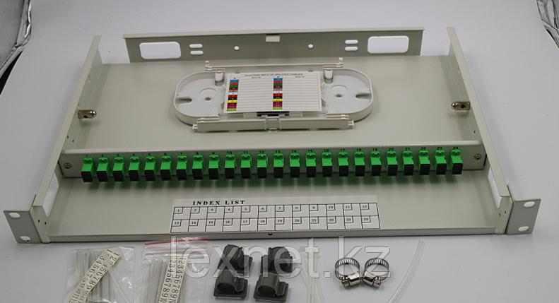 Кросс оптический OK-FDF-1U-24-FC/UPC SM 12 PORT  укомплектованный, фото 2