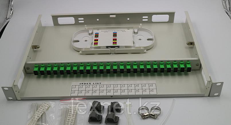 Кросс оптический OK-FDF-1U-24-FC/UPC SM 16 PORT укомплектованный